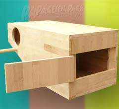 Parrot nesting boxes