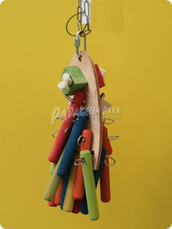 Natur linie hanging toy sticky collage