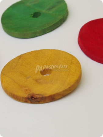 Colorful wooden discs - 3,5 cm - 20 pieces