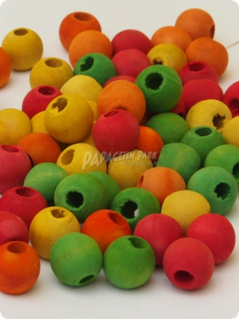 Colorful wooden pearls - Ø 1 cm - 38 g