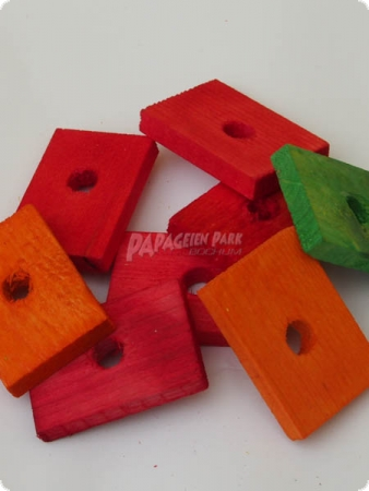 Colorful wooden boards drilled - 5 cm - 10 pieces