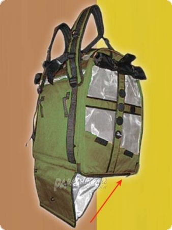 BIRD-BAG - stainless steel - Medium Olive with reflectorstripes