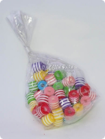 Colorful plastic pearls - Ø 1 cm - 40 pieces