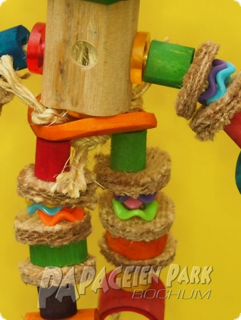 Hanging toy jumping jack bamboo