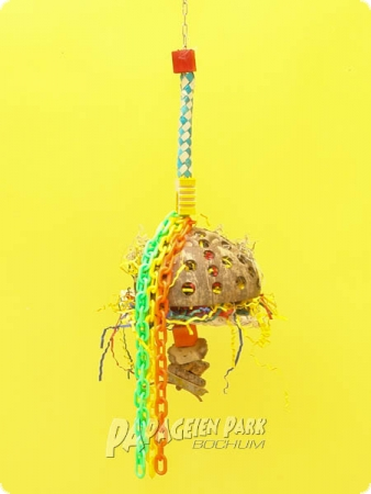 Heike Nature line hanging toy coconut Hippie III