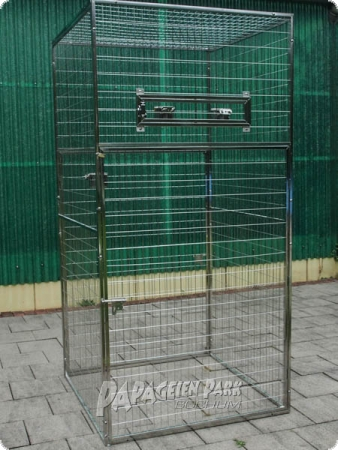 Stainless steel parrot aviary 100x100x200