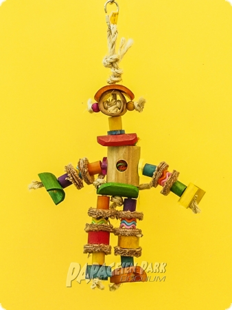 Hanging toy jumping jack bamboo XL