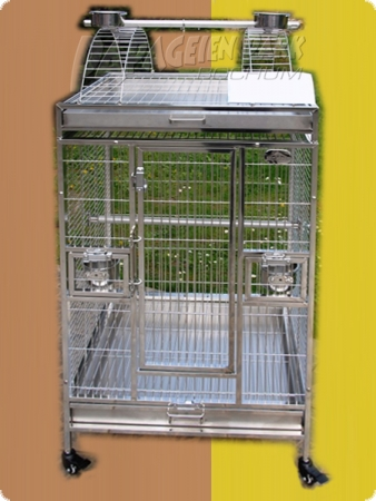Stainless steel parrot aviary 63x58x150-A