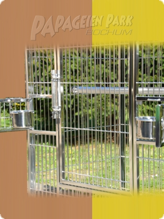 Stainless steel parrot aviary 80x60x150