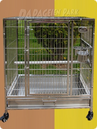 Stainless steel parrot aviary 66x48x80