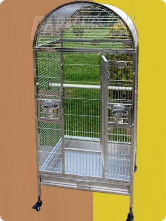 Stainless steel parrot aviary 63x58x140