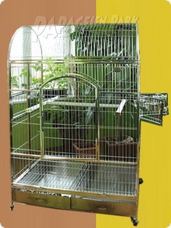 Stainless steel parrot aviary 120x80x190