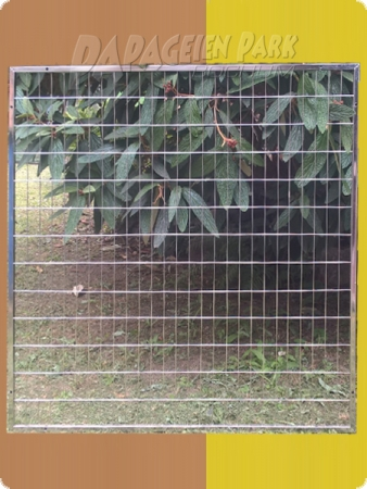 Stainless steel aviary top element 100x100