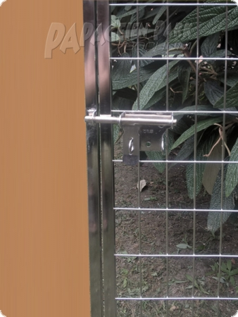 Stainless steel element incl. aviary door 200x100