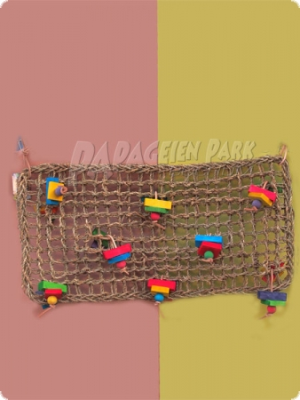 Bast net big - braided - 60 x 30 cm