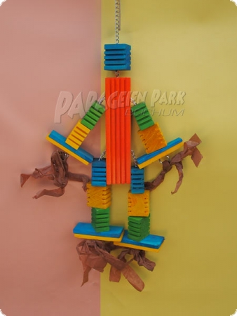 Jumping Jack - Parrot Hanging Toy