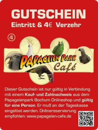 COUPON Parrot Cafe 8 Euro