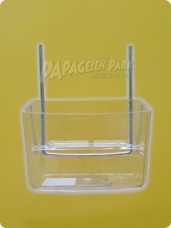 Acrylic food bowl 200ml with hangers