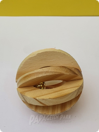 Disc wooden ball with bell Ø 6.3 cm