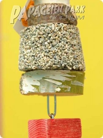 Nature line hanging toy with grit stone