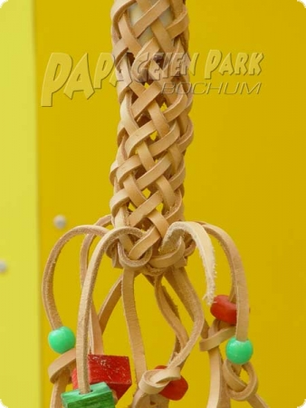 Hanging toy leather pigtail
