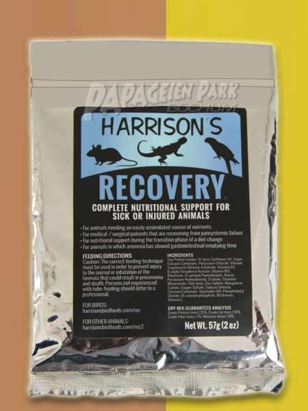 Small package hand raising nutrition 57 g Recovery Formula