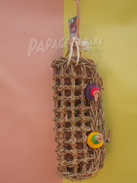 Bast bag braided 9 x 39 cm
