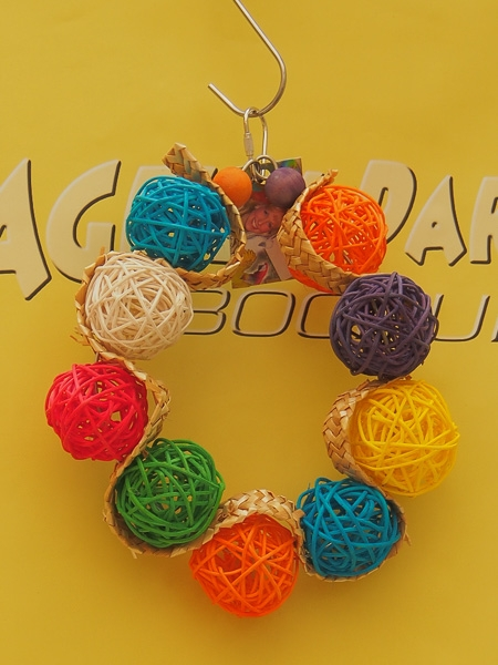 Hanging toy Wicker Ball Circle 20cm