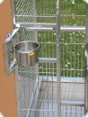 Stainless steel parrot aviary 63x58x150-L