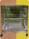 Stainless steel parrot aviary 66x48x80  694,90 EUR