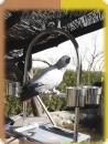 Stainless steel parrot play stand 36x26x57