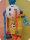Game ball hanging parrot toy