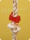 Knot rope with leather strips 30 cm