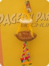 Hanging toy coconut shell 35cm
