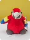 Soft toy macaw red