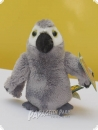 Soft toy African grey parrot