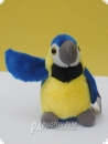 Soft toy macaw blue and gold